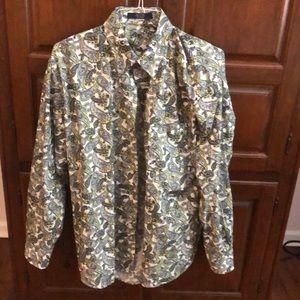 Alan Flusser men's dress shirt worn once as L